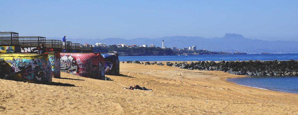 Les blockhaus sur la plage d'Anglet