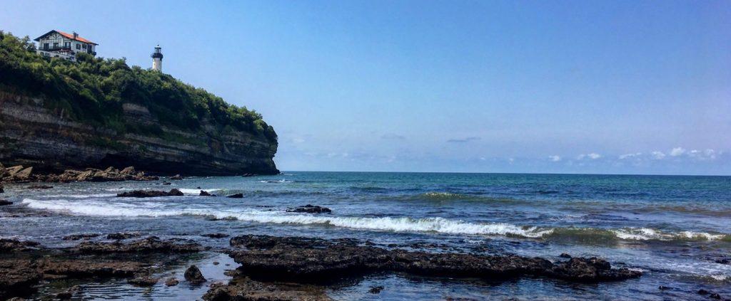 Falaise du Cap Saint-Martin depuis les plages d'Anglet
