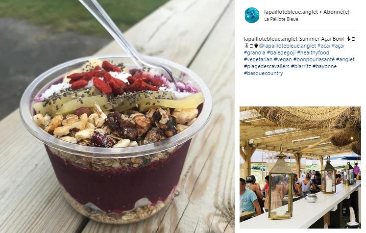 Photos Instagram du cabanon La Paillote Bleue à Anglet !